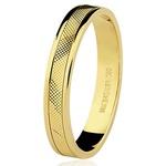 Par de alianças Diamantadas em ouro 18k