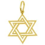 Estrela Davi em Ouro G