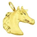 Pingente de Ouro Masculino Cavalo