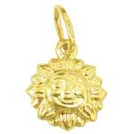 Pingente Sol em ouro