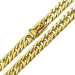 Cordão Masculino Groumet em Ouro 18K Maciço 60cm