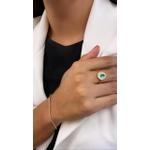 Anel de Ouro 18k com Pedras Sintéticas