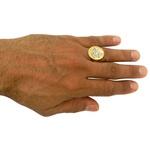 Anel em Ouro 18k Oração de São Jorge