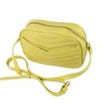 Bolsa Tiracolo Couro Matelassê Amarelo