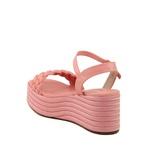 Sandália Plataforma Tressê Rosa