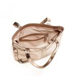Bolsa Shopper Couro Metalizado Inox