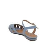 Sandália Tiras Couro Azul Claro