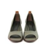Sapato Peep Toe Neoprene Verde