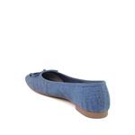 Sapatilha Couro Nobuck Croco Azul Capri