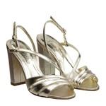Sandália com Tiras Dourada