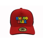 Boné Trucker Rhino Size Vermelho Tema Games