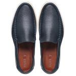 Sapato Casual Tokyo Masculino Couro Azul Petroleo