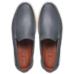 Sapato Casual Tokyo Masculino Couro Azul Marinho