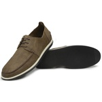Sapato Casual Masculino Couro Oliva