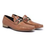 Mocassim Italiano Masculino Premium Couro Wisky Riccally