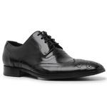 Sapato Social Masculino Brogue Couro Preto Riccally
