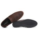 Sapato Casual Masculino Couro Croco Café Riccally