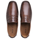 Mocassim Drive Masculino Couro Whisky Riccally