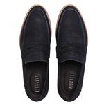 Sapato Casual Masculino Couro Croco Azul Marinho Riccally