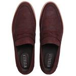 Sapato Casuall Masculino Couro Croco Vinho Riccally