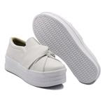 Slip On Nó Sola Alta Branco DKShoes