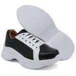 Tênis Casual Chuncky Preto e Branco Sola Tratorada DKShoes