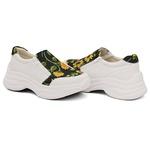 Tênis Casual Chuncky Zíper Girassol Branco Sola Tratorada DKShoes