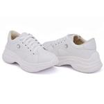 Tênis Casual Chuncky Strass Branco Sola Tratorada DKShoes