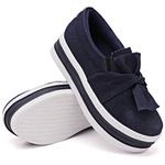 Slip On Laço Sola Alta Jeans DKShoes