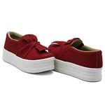 Slip On Laço Sola Alta Vermelho DKShoes