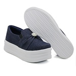Slip On Pérola Sola Alta Jeans DKShoes