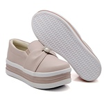 Slip On Pérola Sola Alta Rosê DKShoes