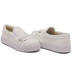 Slip On Nó Lateral Listra Branco DKShoes