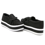 Slip On Nó Lateral Sola Alta Preto DKShoes