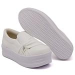 Slip On Nó Lateral Sola Alta Branco DKShoes