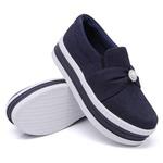 Slip On Pérola Sola Alta Jeans DKShoes