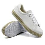 Tênis Casual Pietra Corda Branco DKShoes