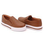 Slip On Pietra Costura Pala Caramelo DKShoes
