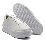 Tênis Casual Siena Sola Alta Branco DKShoes