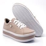 Tênis Casual Strass e Faixa Sola Alta Rosê DKShoes