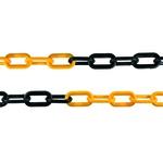 Corrente Plástica Pequena Amarelo/Preto 100metros 38x21x6mm PPS 01 PROTEPLUS