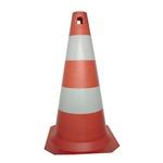 Cone Rígido PLT 50cm de altura PPS 03 PROTEPLUS Laranja e Branco