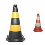 Cone Rígido PLT 50cm de altura PPS 03 PROTEPLUS Amarelo e Preto