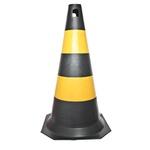 Cone Rígido PLT 75cm de altura PPS 04 PROTEPLUS Amarelo e Preto
