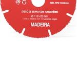 Disco de Serra com Tungstênio para Madeira 110 x 20mm 245,0001 – ROCAST