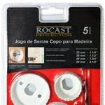 Kit Serra Copo para Madeira 5 peças 32 a 54mm 97,0003 ROCAST