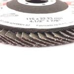 Disco de Lixa Flap 115 x 22mm 4.1/2pol x 7/8pol Gr 40 102,0001 ROCAST