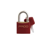 Cadeado Cores Vermelho 40mm - LT-40 - PADO