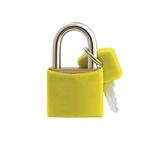 Cadeado Cores Amarelo 50mm - E-50 - PADO