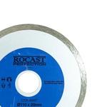 Disco Diamantado Combat Liso Cerâmico Esmalt Corte Seco 110x20mm 34,0014 ROCAST